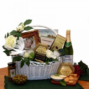 Bride & Groom Happy Wedding Wish Gift Basket