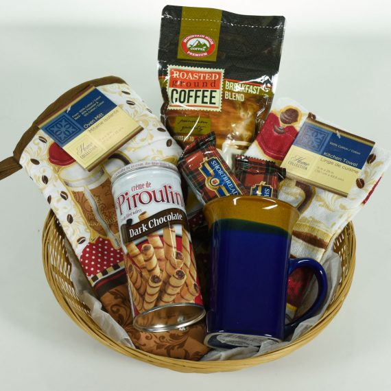COFFEE-COFFEE-COFFEE-Oven-Glove-Towel-Mug-Coffee-LARGE-Gift-Basket-0