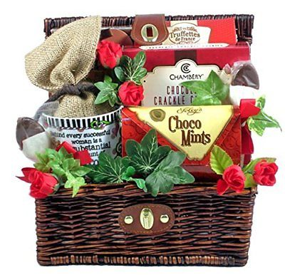 Chocolate-Gift-Basket-with-Mug-for-Women-Great-Mothers-Day-or-Valentines-Day-0