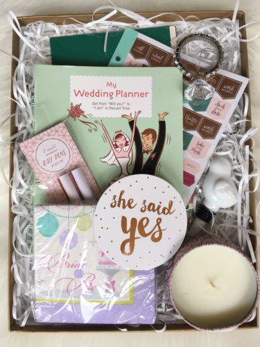 Engagement Gift Bride To Be Basket Wedding Planner