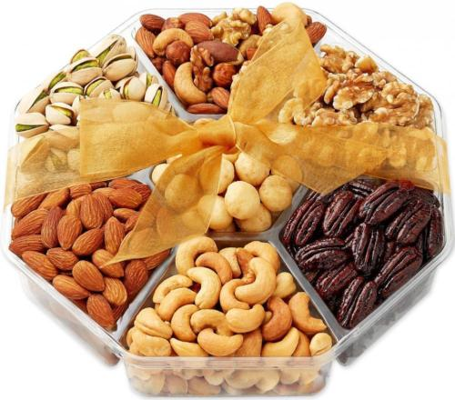 Gift-Baskets-Nuts-Basket-Food-Gifts-Gourmet-7-Sectional-Fruit-and-Nut-0