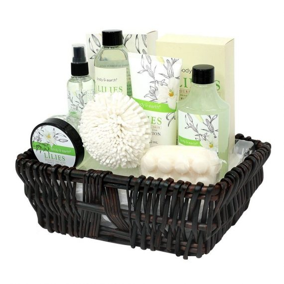 Gift-Baskets-for-Women-Body-Earth-Spa-Gifts-for-Her-Lily-10pc-Set-Best-Gift-0