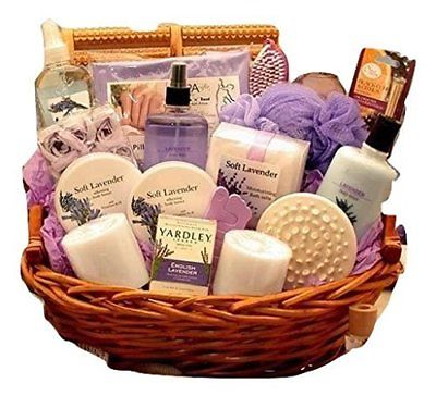 Heavenly-Lavender-Spa-Womens-Birthday-Holiday-or-Mothers-Day-Gift-Basket-0