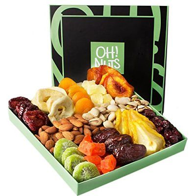 Holiday-Dried-Gift-Basket-Nut-Fruit-Gourmet-Healthy-Snack-festival-Food-Box-0