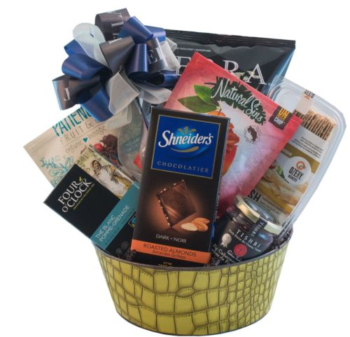 Kosher Gourmet Gift Basket With Chips Tea Crackers Chocolate More