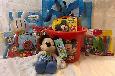MICKEY-MOUSE-EASTERGIFT-BASKET-PLUSH-MARACAS-WHISTLE-TOTE-MORE-0
