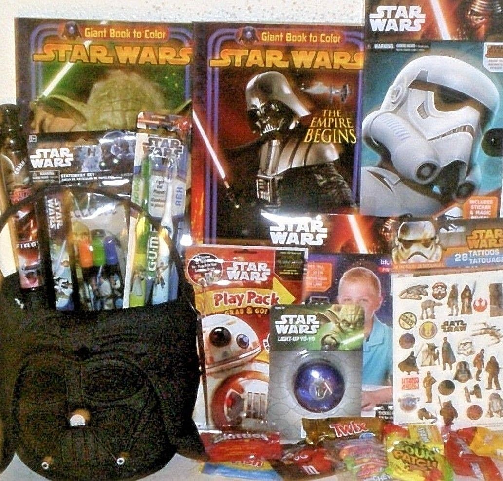 NEW STAR WARS EASTER TOY GIFT BASKET VADER PLUSH TOYS BIRTHDAY Playset Books