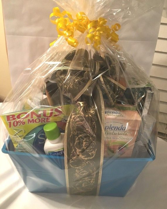 NEW-Toms-Morning-Mint-Shea-Cetaphil-Purell-Naturals-Sleepytime-Tea-Gift-Basket-0