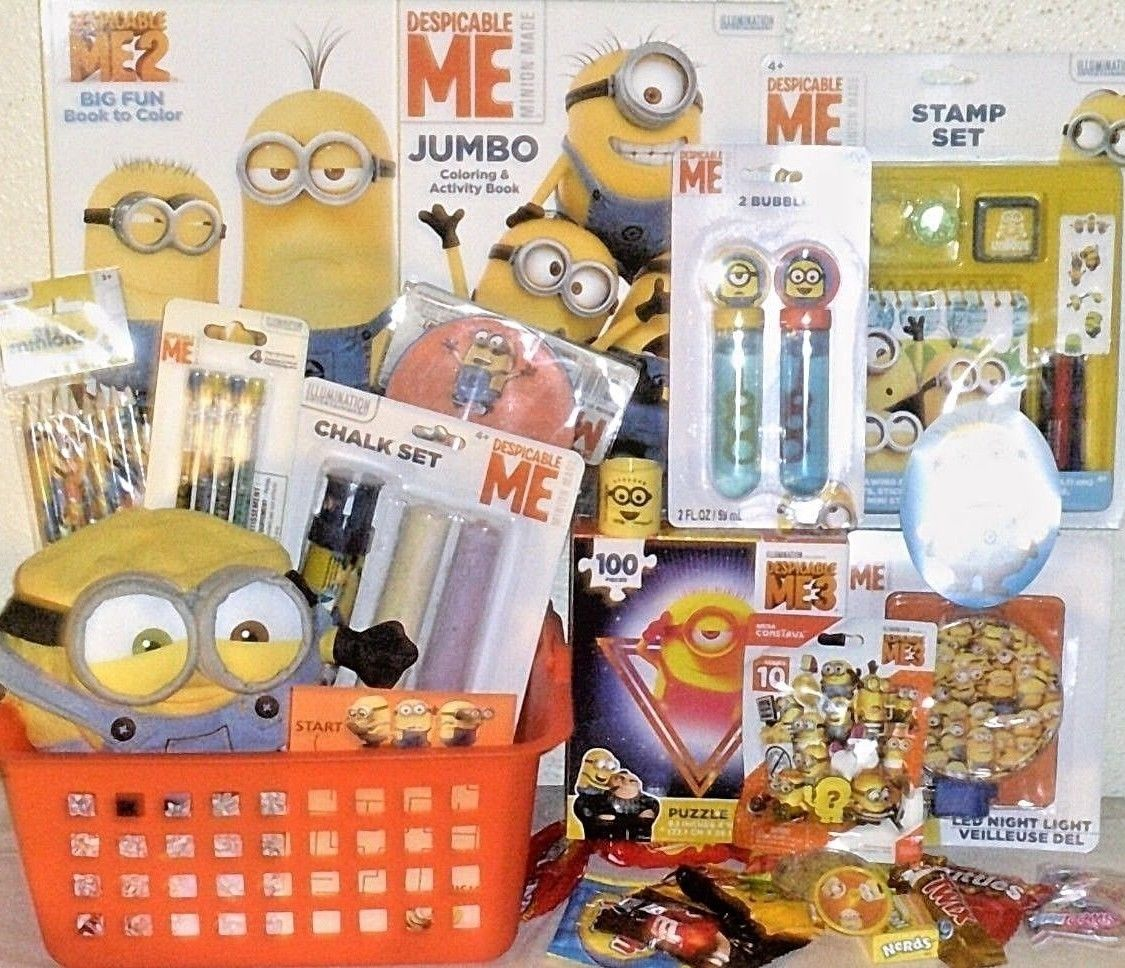 New Minions EASTER Toy Gift Basket OUTDOOR toys FIGURE playset birthday gift