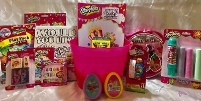 SHOPKINS-EASTERGIFT-BASKET-LCD-WATCH-PURSE-STAMPERS-PAINTS-MORE-0