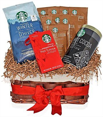 starbucks christmas hot cocoa variety gift basket with the most popular christma