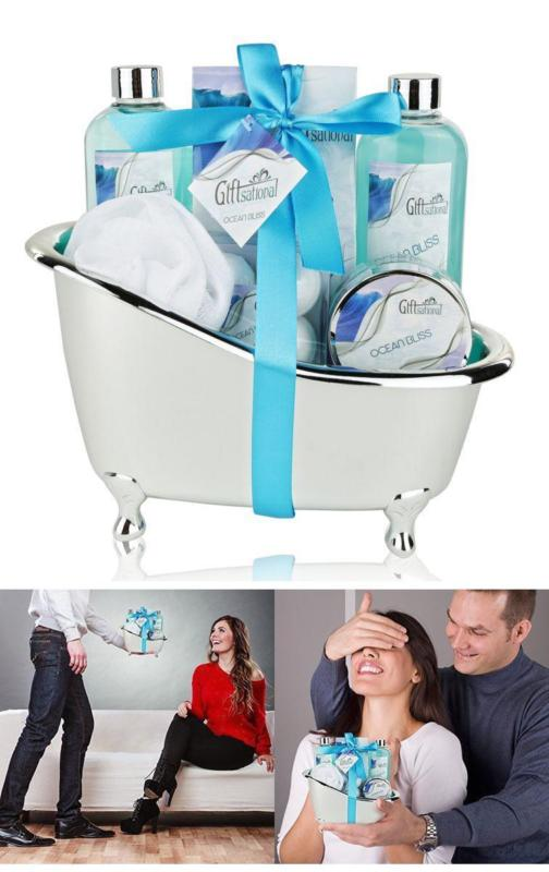 Valentines Day Birthday Anniversary Gifts For Wife Girlfriend Spa Gift Basket