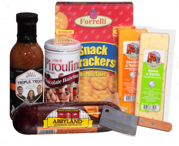 Wisconsin-Cheese-Sausage-Small-Gift-Pack-Gourmet-creme-Cleaver-Thin-Basket-0
