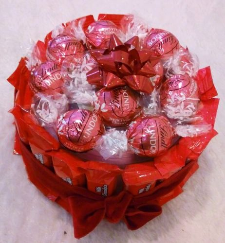 Women-Valentines-Birthday-Gift-Basket-Floating-Candles-Pink-Lindt-Chocolates-0